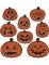 8 decorazioni in cartone zucche arancioni